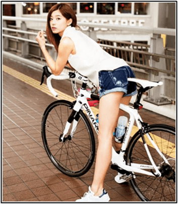 朝比奈彩 チャリダーでロードバイクサイクリング!自転車好き過ぎw
