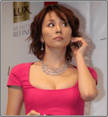 米倉涼子のカップが気になるw旦那との離婚は現在どう?画像